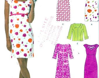 Chic cocktail dress jacket sewing pattern Multi size pattern New Look 6934 Sz 10 to 22 Uncut
