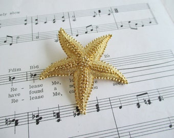 Vintage Gold Toned Monet Starfish