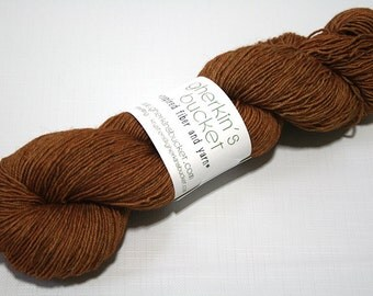Hand Dyed Artisan Yarn, Tonal Kettle Dyed Sock Yarn, Semisolid SW Merino Yak Nylon Fingering Yarn, Yak Sock, Glad Hand #11717