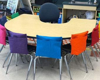 1 Chair Pocket Seat Desk Sack Washable Colored Duck Cloth You Choose the COLOR(s) and SIZES Chair Pocket Factory