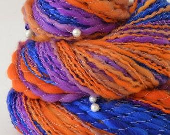 Handspun Yarn - Bright Merino Yarn - Freshwater Pearls - 1.75oz, 180yd, 17WPI