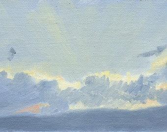 SALE! Sunset Sketch: Original Oil Painting Plein Air Landscape