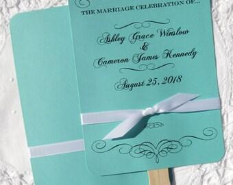 Personalized Wedding Fans - Fans For Weddings - Wedding Hand Fans - Wedding Favor Fans - Wedding Paddle Fans - Wedding Fans
