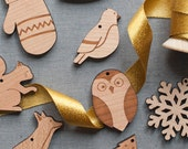 Woodland Ornament Advent Calendar by Peppersprouts  - countdown to christmas