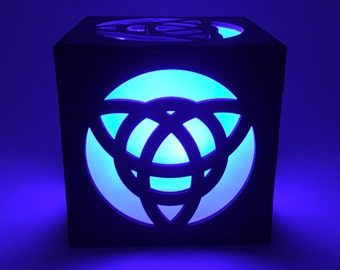 Celtic Knot, Light Box, Trinity Knot, Wood Lantern, Celtic Lantern, Candle Box, LED Lantern, Celtic Lamp, Home Decor, Celtic Nightlight