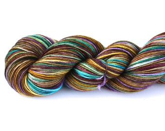 Sandman--hand dyed sock yarn, merino and nylon, (463yds/100gm)