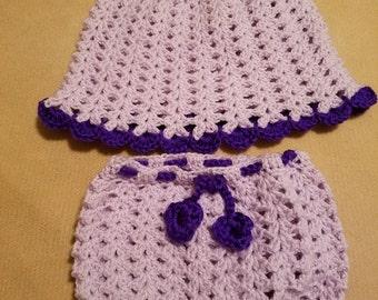 Cute Newborn Dress Set