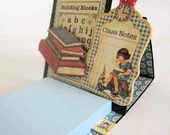Teacher gift - Thank you gift - Desk accessory - Post it note holder - Sticky note holder