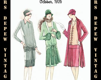 Vintage Sewing Pattern Advertisement Collection McCall's Magazine October 1926 PDF -INSTANT DOWNLOAD-