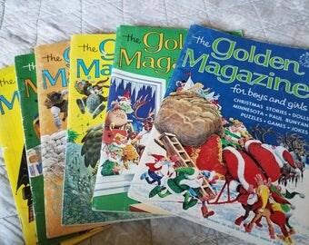 Set of 6 Golden 1960s Golden Magazines