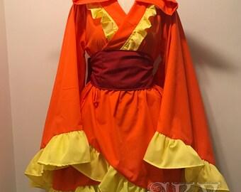 Flareon Kimono Dress