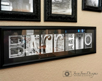 Alphabet Photo Letters | Full Alphabet Set A-Z | 4x6 Photo Letters | Black and White Photography | Wedding Banner | Unframed