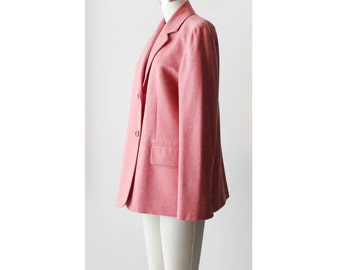1990's CELINE Coral Pink Tweed Blazer