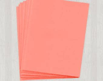 25 Sheets of Cover Stock - Coral and Peach - DIY Invitations - Paper for Weddings & Other Events
