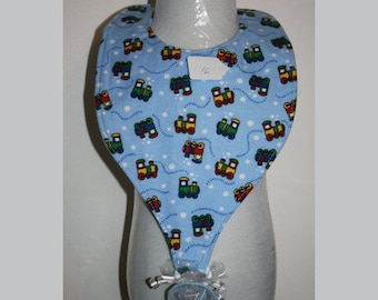"Baby Bibs, Pacifier Bibs, Bibs with Pacifier, Bibs, Pacifier, "" Trains"""