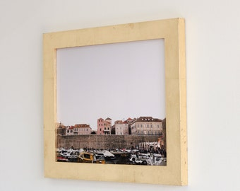 11x14 gold leaf picture frame with glass