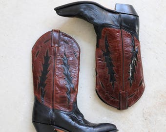 1980s Code West Cowboy Boots >>> Women's Size 5-1/2 (5.5) to 6