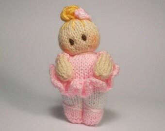 Ballet Bitsy Baby doll knitting Pattern