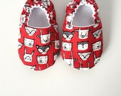 Baby Shoes, Baby Moccasins, Childrens Indoor Shoes, Woodland Animals
