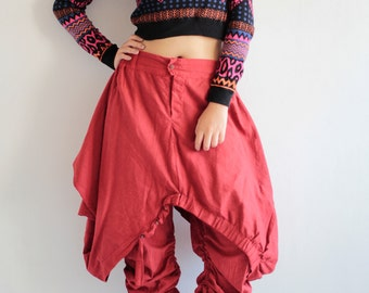 Hanna pants (GP-355)...Hemp/cotton fabric  ( 3 sizes S-M, M-L,L-XL) Funky Pant /Hippie pants/skirt /long pants/ plus size/urban....