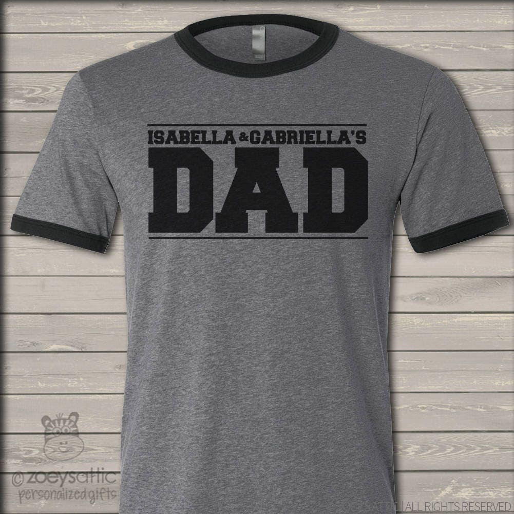 Design your own t shirt in pakistan - Dad Shirt Custom Dad Shirt Personalized With Kids Names Ringer Style Tshirt Mdf1 072