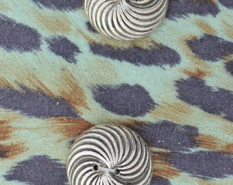 Button set of 4 , 2 hole , Plated plastic , Antique silver finish , sold 4 each OB9769AS