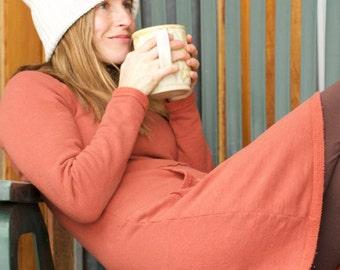 "Organic Hemp Fleece Tunic Dress - ""The Gardner Fleece Dress"""
