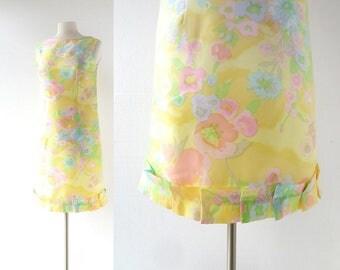 60s Floral Dress | Rêve de Fleurs | 1960s Dress | Small S