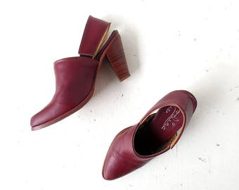 Vintage 70s Heels | Zodiac Shoes | High Heel Clogs | Size 8