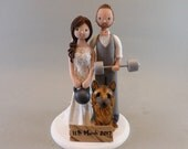 Bride & Groom Personalized Wedding Cake Topper - reserved for shannonpearl