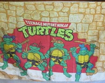 Vintage Teenage Mutant Ninja Turtles Pillowcase 1988 TMNT