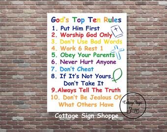, Ten Commandments,Exodus 20, Gods Top Ten For Kids, 10 Commandments ...