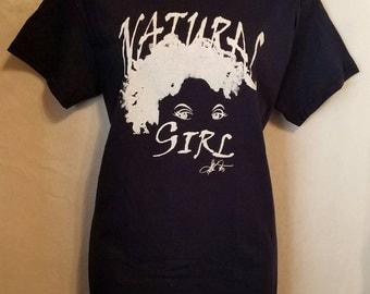 """Navy Blue """"My Natural is Beautiful"""" and """"Natural Girl"""" T-Shirt   Natural T-Shirt"""