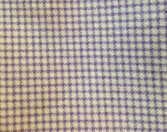 Purple gingham flannel