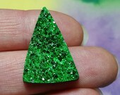 Sale UVAROVITE GARNET Top Quality 27.5 Carat Druzy Crystal Cabochon From Ural Mountains Russia Sale