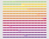 2017 Rainbow Ribbons Poster Sized Wall Calendar - Gray OR White Background