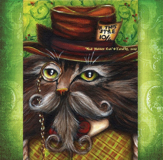 Mad Hatter Cat 5x7 Fine Art Print