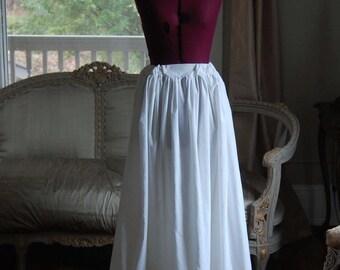 White  with Cream trim under skirt petticoat victorian costume theater rococo marie antoinette peasant