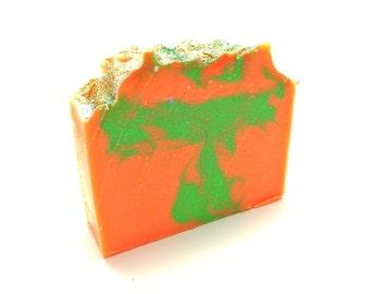 Citrus Cilantro Handmade Cold Process Soap -Goats Milk Soap, Handmade Soap, Homemade Bar Soap, cp soap-artisan soap by Nana Js Handmades