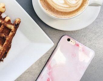 Pink Marble iPhone 7 Case Rose Quartz iPhone 6S Plus Case, Marble iPhone SE Case, Pink iPhone 7 Plus, Samsung Galaxy S7 Edge