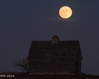 Super Moon Photo - Full Moon Print -  Country Moon Photo - Full Moon Photo