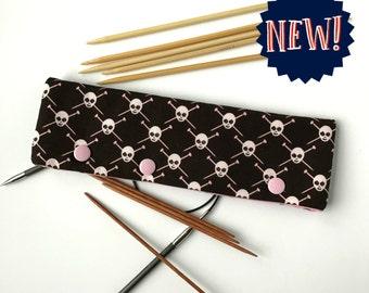 Knitting Pirates in Pink - DPN & Circular Needle Holder