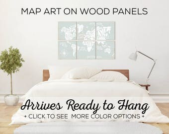 Shop Our Variety of Wall Art World Maps - Perfect for Bedroom Decor or Above the Sofa Art
