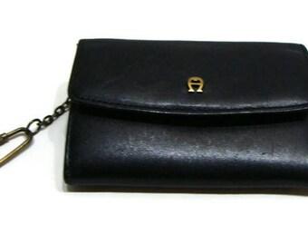 Vintage Leather Wallet Vintage Etienne Aigner Wallet Vintage Black Leather Wallet Vintage Womens Wallet Etienne Aigner Wallets