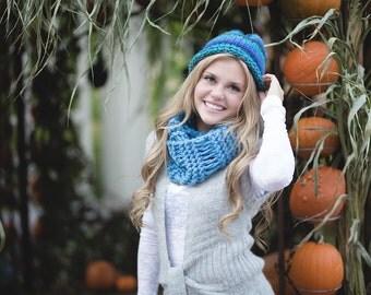 Knit Hat, Knit Beanie, Slouchy Beanie Women, Slouchy Hat, Womens Hats, Winter Hat, Women Chunky Knit Hat, Knit Scarf, Knit Infinity Scarf