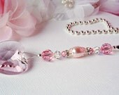 Pink Ceiling Fan Pull Chain Little Girls Room Nursery Decor Swarovski Crystal Light Pulls
