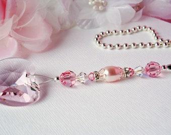 Pink Ceiling Fan Pull Chain Little Girls Room Nursery Decor Swarovski Crystal Light Pulls
