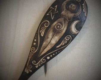Night Goddess (Dark) Single Spoon - Made to Order