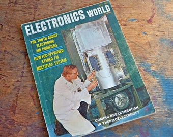 Vintage July 1961 Electronics World Magazine - The Coming Breakthrough in Thermoelectricity