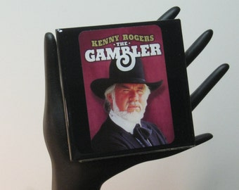 "Kenny Rogers ""The Gambler"" Limited Edition Collector Card Drink Coaster"
